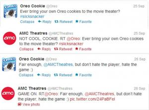Oreo - AMC Theaters Tweets