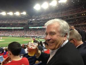 Bill Malone of the Park City Chamber at the Nationals-White Sox game after a day on the Hill