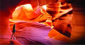 Couple take a break in Antelope Canyon, a slot canyon in Arizona. MR: B1- Dawn Blancaflor, M5- Charlie Munsey